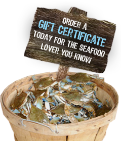 Order a Gift Certificate today for the seafood lover you know!